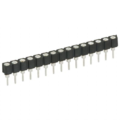 4 Way SIL Socket 2.54mm - Turned Pin - Pack of 5